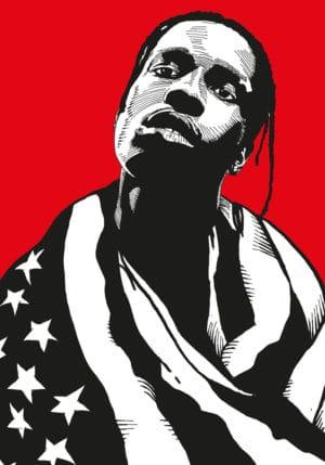 rap poster kunstdruck harlem rapper