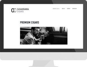 Casagranda Cigars website design