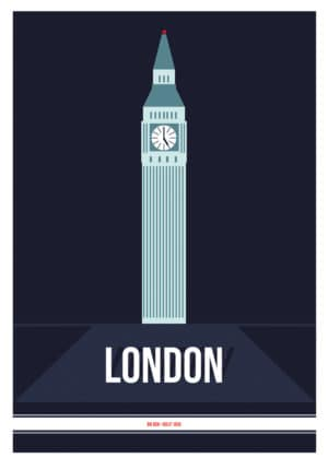 kunstdruck london big ben