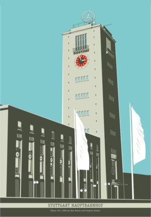 kunstdruck hauptbahnhof stuttgart