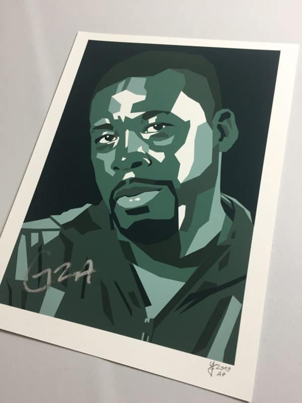 GZA GENIUS WU TANG SIGNED ARTIST PROOF RAP POSTER KUNSTDRUCK